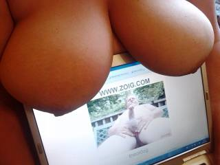 Oh Baby, I wish I was there to slide my cock between your big beautiful tits and shoot a big load of cum all over them!
