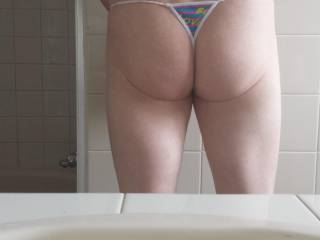 That LiL ASS of yours, looks soo fuckable in that thong!  I'd love to bury my hard smooth cock, ball slapping deep in that fuck hole of yours