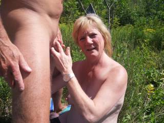 Making a stranger cum on her! He wanted to fuck, she wanted it to. But, it was too much, so he dumped quite a load on her