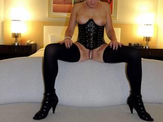 Showing off my pearl panties before my friend arrives.