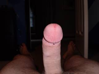 Nice hard cock and like the dripping cum shot...hot!