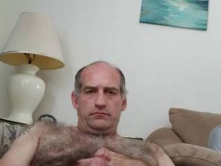 Stroking my big hard dick 4 your pleasure.