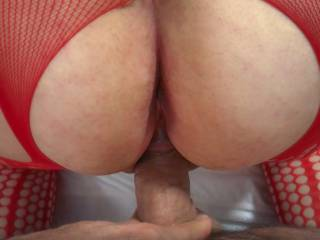 sliding into her warm tight pumped pussy