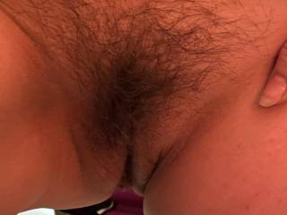 Offering my hairy mature cunt to hubby for his pleasure ..... and mine !!! He took this pic and started eating my pussy - then gave a great fuck.