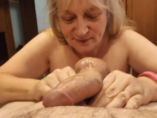I love when I have total control over a cock. That wonderful cock will get the full treatment with my hands as I want it to cum all over and in between my fingers. Mmm... Would like this married woman to take care of yours?