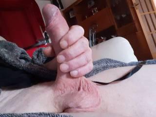 Stroking my cock I enjoy doing it