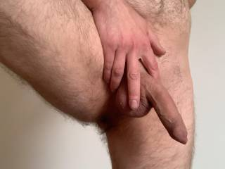 Love touching my penis, stroking and caressing it until I get hard.