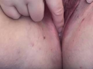 So a naughty man fucked me hard this afternoon and left me full of cum! A lot ran out but I played with the rest on video for you ! Even had a little 👅 x