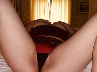 Just teasing on cam