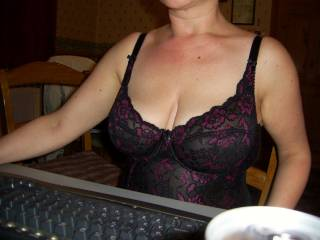 D relaxing in her lingerie whilst in the chat room