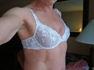 Pretty white lace bra