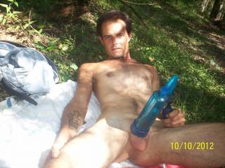 Nothing like being naked in the great outdoors !