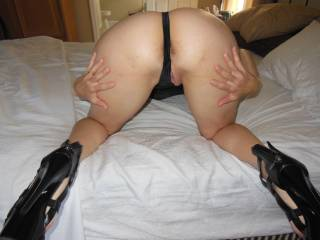Just waiting for a good tongue lashing and spanking!!!  Comments for more!!!
