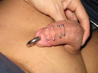 Around my pierced dick, pic 5