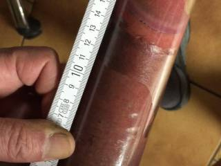 result of pumping mi cock for one hour