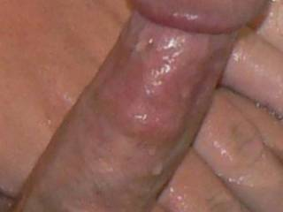 Mmmm, I bet his cock feel hot and so good to hold....It looks so delicious. My pussy is getting wet from looking at your cock pictures and thinking of having It in my mouth cumming Mrs.M
