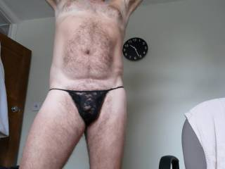 just a bit of fun with the wifes thong - I'M STR8 You dont have to be GAY to appeciate wearing a womans panties