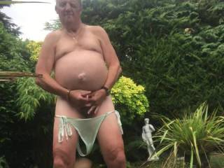 I really enjoyed wanking in the garden it would have been nice to have a zoigers stiff cock to suck or a nice tits and a wet cunt to fuck �😀
