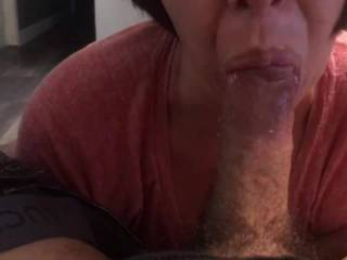 She tells me to stay home so she can suck my cock ten minutes later she put that pussy on me all while her husband was working.