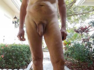 Nice to be naked outdoors. Would you like to be out here with me?