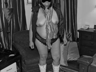 I like the way my nipples look in black & white!