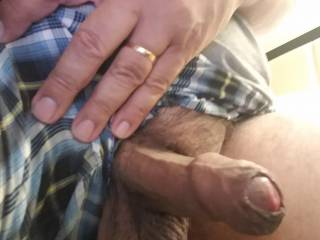 My cock isn\'t very long but my foreskin can\'t contain my big mushroom head!