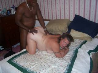 Here he is fucking her deep. She loves her pussy filled up.