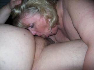 Mrs Daytonohfun taking me balls deep in her mouth as her hubby watched and took pics