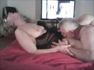 I did! What an excellent couple you are, nothing beats maturity and experience and you are exceptional for your age - beautiful - he is considerate and knows your body so well, hence the intense orgasms - beautiful to see you get such pleasure - my mouth lips and tongue are yours too - would love to pleasure you to many orgasms like that!!