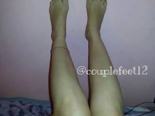 Oh yes! Imagining one of those beautiful feet rubbing my cock, while the other grinds my bound balls!