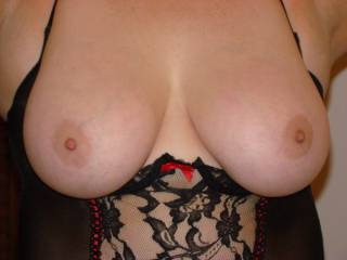 love your big round tits.  you like me to cum on them?