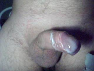 I love seeing wet (cum coated) cocks....they do make me horny, and hungry for one to suck.  I know that that cock has gotta taste good.  K