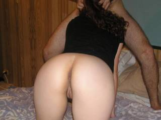 ol hell yeah love to pull up behind you and slide my throbbing cock in your little pussy as he fills your mouth with his meat