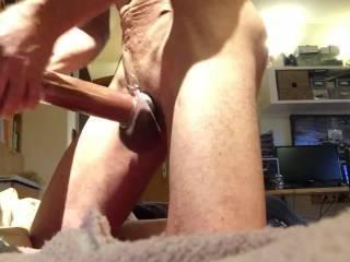Pumping mi Cock and masturbating