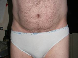 After taking some pictures of my girlfriend, showing off her knickers. She suggested I do the same.