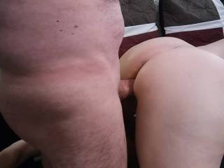 Doggy style does not just mean my pussy gets pounded with a hard, thick cock. It means my hot and wet pussy can stroke my man's love rod. Mmm... Feels so good.