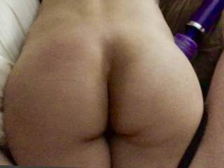 Another shot of her ass while laying down