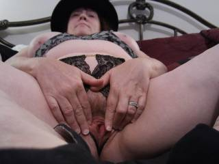 How does my married pussy look? It is very, very wet! So... Come and taste me.