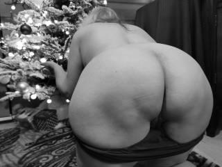 """Christmas Sexuelle - Noir et Blanc Classique: """"Big Beautiful Booty"""""""