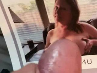 This sexy big titted milf had a Fantasy about a young horny hard boy who spied in her at the pool and took him into her house and made him fuck her tits and cum or she would tell on him and what  blast he had. Any milfs who want me to tribute t email me.