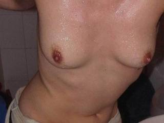 o'yes, now that is a great picture of some very nice tits. Hope theres more pictures cumming, By the way that what I want to do over them