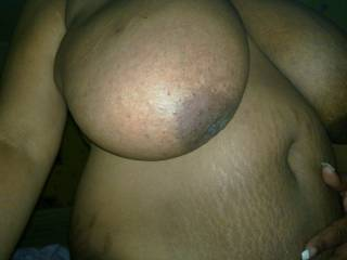 My frieands huge tits.