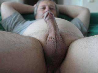 My half stiff uncut dick.