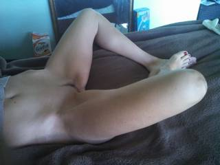 Perfection! Wish I could home to this....and start with those amazing feet and sexy toes and slowly work my way up savouring and tasting all and everything...for hours....