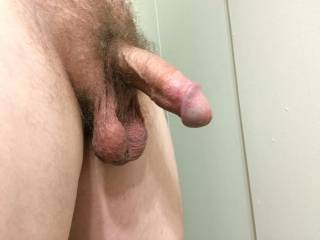 Half hard dick. Ladies, is this big enough to please you, or do you need a bigger dick?