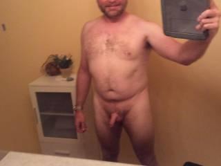 Bathroom selfie sans underwear