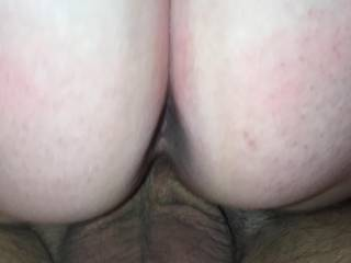 Wife\'s new friend balls deep in her pussy bare back