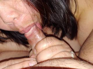 My Asian slut showed up again to suck me off
