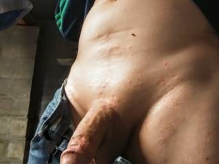 Jack off & ore jacking off. Then suck my wife's pussy when she walks thru the door.