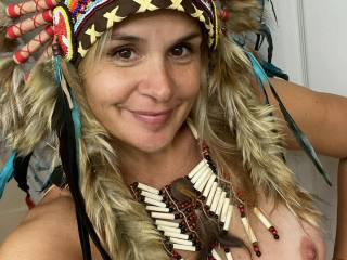 I actually am native ,..before people get too crazy..lol..going to do s pretty outdoor nude blanket lake woods sgoot in this headress